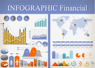 Financial Infographic Vector Infographics flat