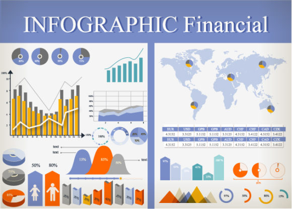 Financial Infographic Vector 3