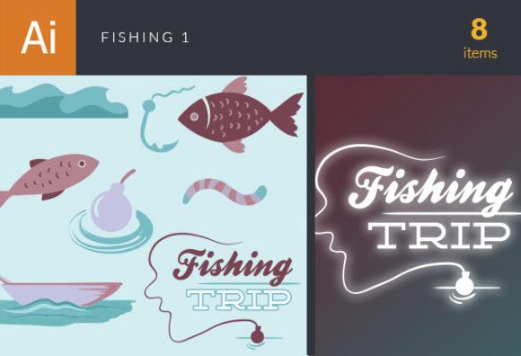 Fishing Vector Set 1 designtnt fishing vector set 1 vector small