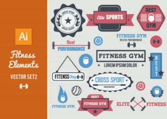 Fitness Vector Elements Set 2 Vector packs [tag]