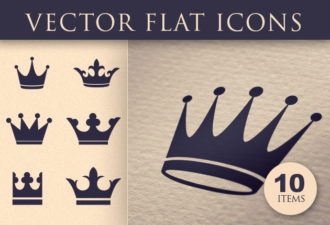 Flat Crown Icons Set 2 Vector packs crown