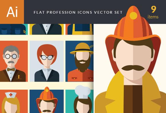 Flat Icons Professions Vector Set 1 5