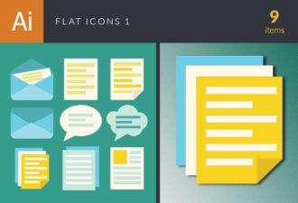 Flat Icons Vector Set 1 Vector packs abstract