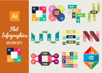 Flat Infographics Set 1 Infographics abstract