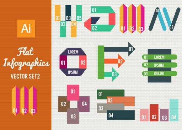 Flat Infographics Set 2 Infographics abstract