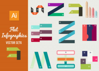 Flat Infographics Set 6 Infographics abstract