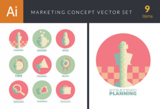 Flat Marketing Concept Vector Set 1 Vector packs arrow
