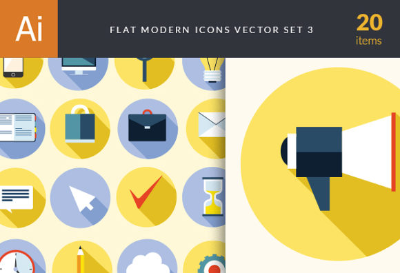 Flat Modern Icons Vector Set 3 designtnt flat modern icons vector set 3 vector small