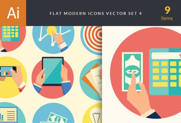 Flat Modern Icons Vector Set 4 1