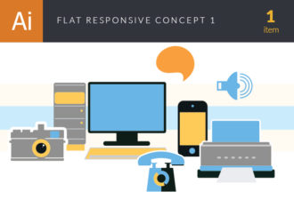 Flat Responsive Concept Vector Set 1 Vector packs ring