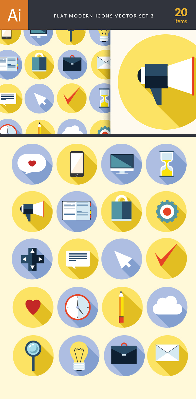 Flat Modern Icons Vector Set 3 designtnt flat modern icons vector set 3 vector large