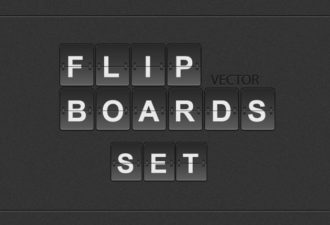 Flip Displays Set Vector packs abstract