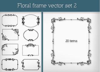 Floral Frame Vector Set 2 Vector packs floral