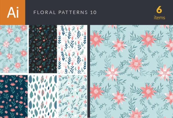 Floral Vector Patterns Set 10 Vector packs patterns