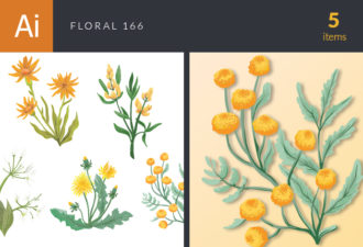 Floral Vector Set 166 Vector packs nature