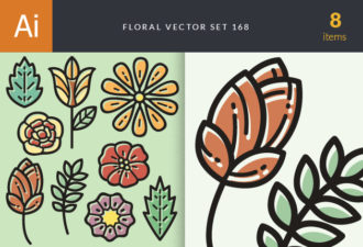 Floral Vector Set 168 Vector packs nature
