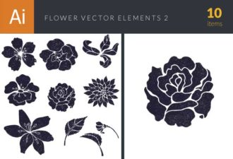 Flowers Vector Set 2 Vector packs nature