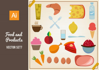 Food And Products Vector Set 7 Vector packs glass