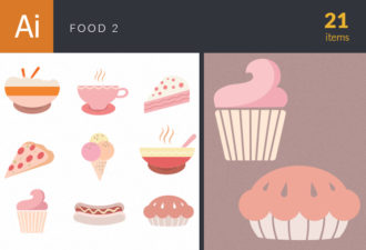 Food Icons Vector Set 2 Vector packs ice cream