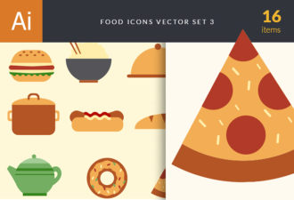 Food Icons Vector Set 3 Vector packs pack