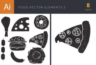 Food Vector Elements Set 2 Vector packs pizza
