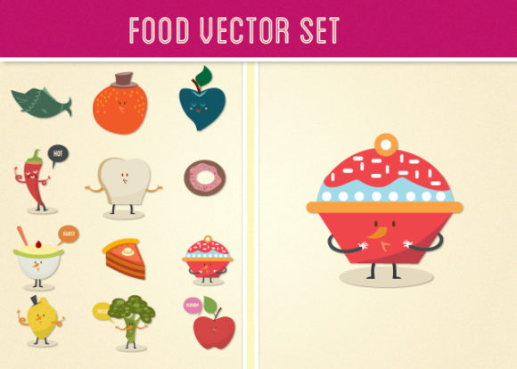 Food Vector Set 2 designtnt food vector set 2 vector 1 small