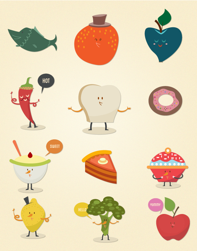 Food Vector Set 2 designtnt food vector set 2 vector 1 large