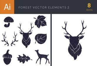 Forest Vector Elements Set 2 Vector packs leaf