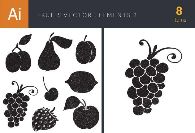 Fruits Vector Elements Set 2 Vector packs lemon