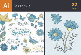 Garden Vector Set 2 Vector packs nature