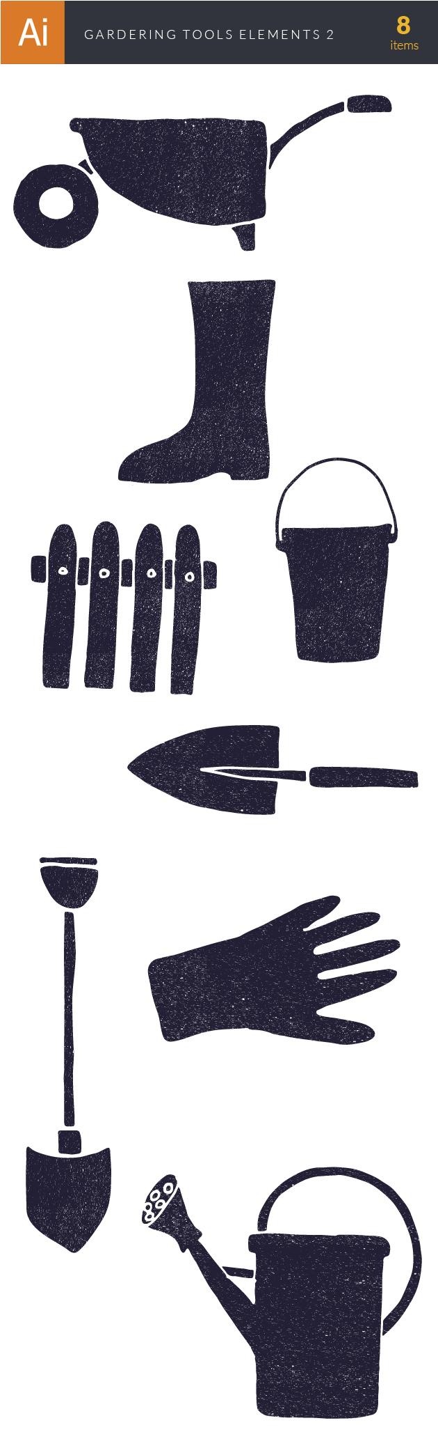 Gardening Tools Vector Elements Set 2 2