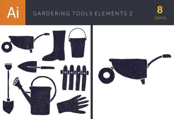 Gardening Tools Vector Elements Set 2 1