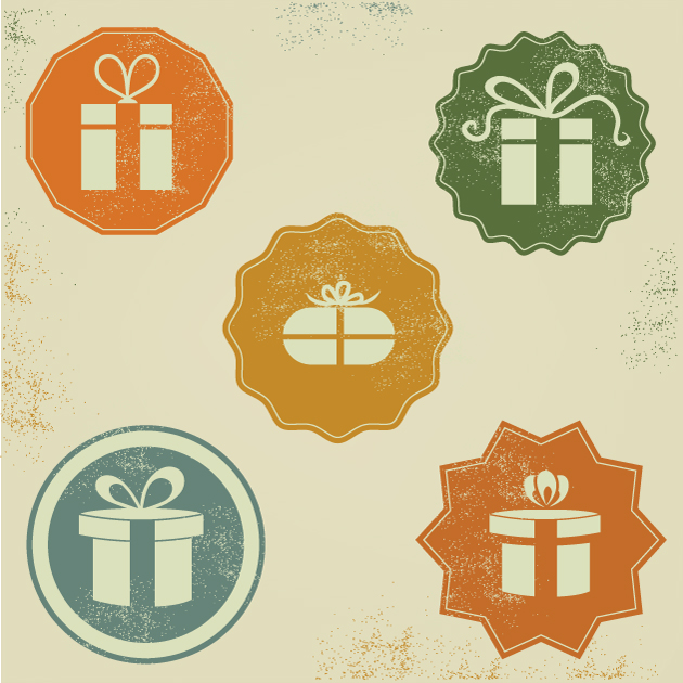Gift Box Icons Vector Set 1 designtnt gift box icons vector set 1 vector large
