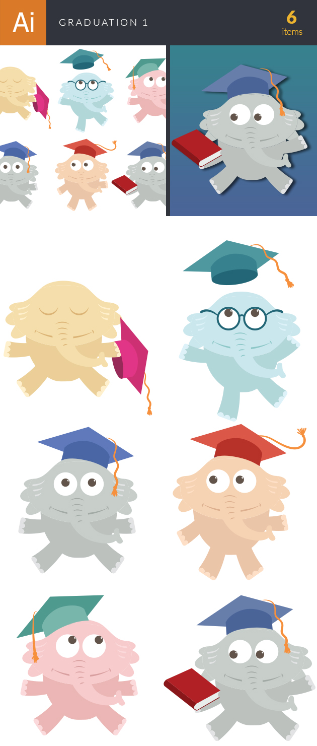Graduation Vector Set 1 6