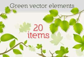 Green Vector Elements Vector packs nature