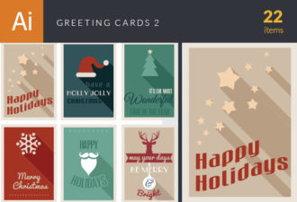Greeting Cards Vector Set 2 Vector packs christmas