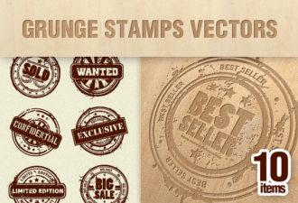 Grunge Stamps Vector Set 2 Vector packs vintage