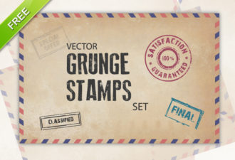 Grunge Stamps Vector Vector packs vintage