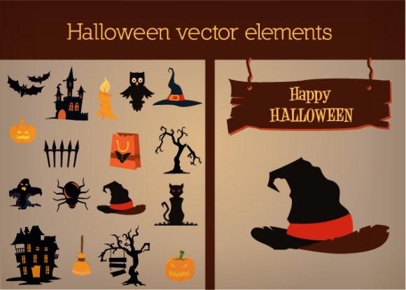 Halloween Vector Elements Set 1 designtnt halloween vector elements set 1 vector small