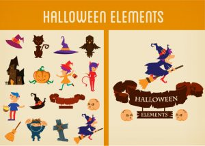 Halloween Vector Elements Set 2 Vector packs scroll