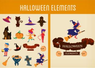 Halloween Vector Elements Set 2 Vector packs bat
