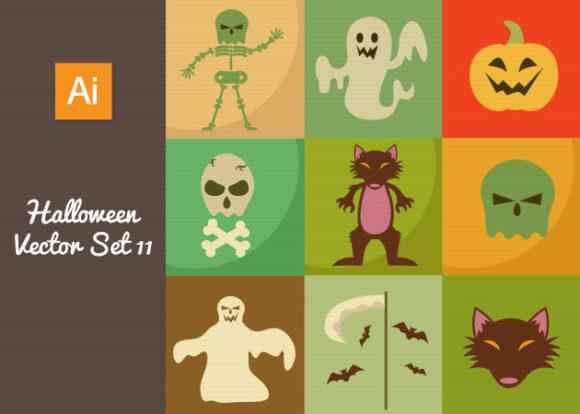 Halloween Vector Set 11 Vector packs bones