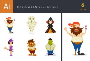 Halloween Vector Set 13 Vector packs pirate
