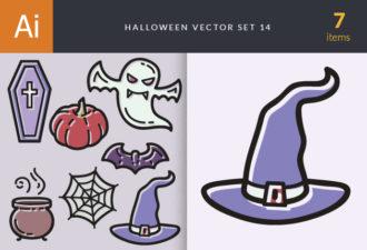 Halloween Vector Set 14 Vector packs hat
