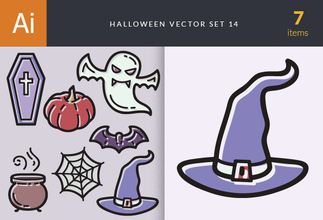 Halloween Vector Set 14 Vector packs hat