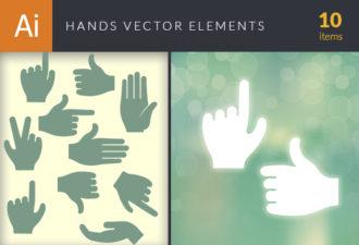 Hands Vector Elements Set 1 Vector packs people