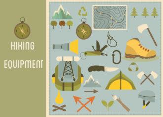 Hiking Equipment Infographics Vector Infographics [tag]