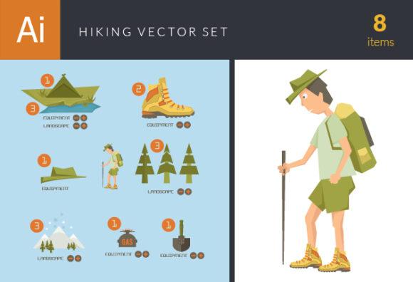 Hiking Vector Set 10 Vector packs tree