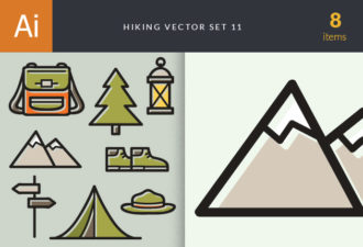 Hiking Vector Set 11 Vector packs tree
