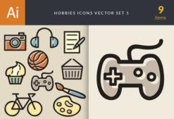 Hobbies Icons Vector Set 1 Vector packs ball